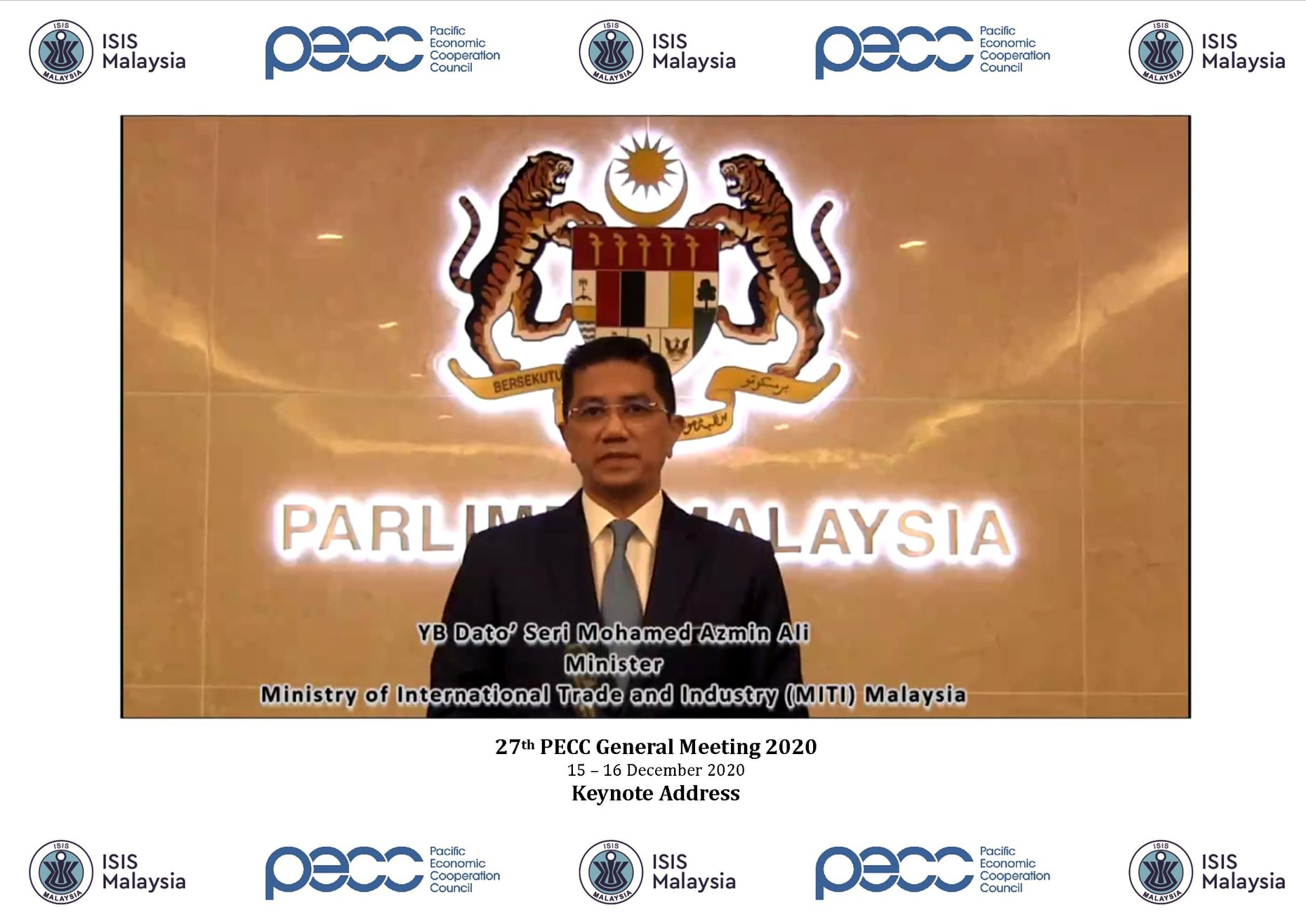 2020 PECC GM Keynote Address Minister Mohamed Azmin Ali